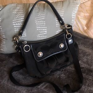 Coach Crossbody Saddle Handbag - Black